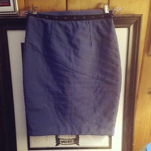Royal Blue Quilted Skirt w/ Grommet Details